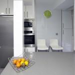 integrar el pilar en la cocina