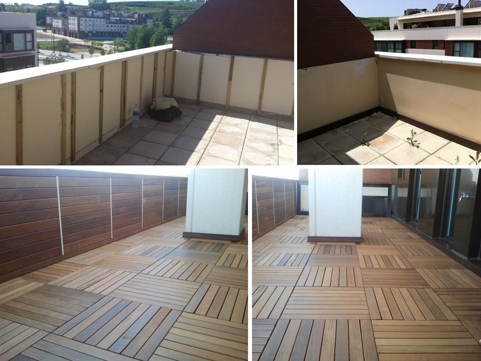 Losetas terraza materiales de construcci n para la for Comprar losetas vinilicas pared