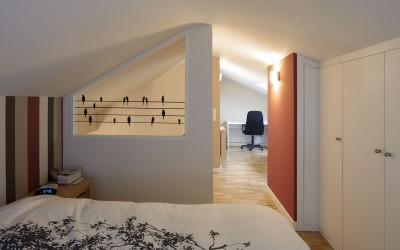Traslado de dormitorio al atico