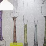 cocina y papel pintado
