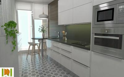 Como en la realidad virtual queda distribuida una cocina